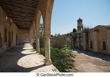 Abandoned orthodox monastery of Saint Panteleimon in Cyprus...