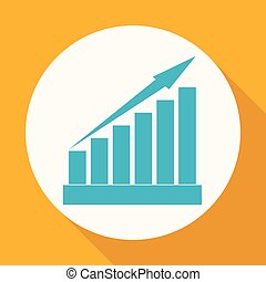 growing graph icon