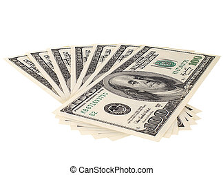 dollars - background of many mass currency note US dollars,...