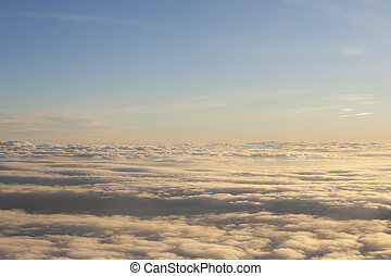 high above the clouds peaceful scene