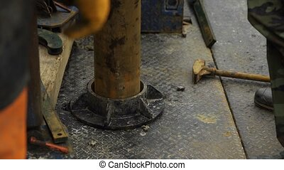 Immersing casing pipe into the borehole - Casing Drilling On...