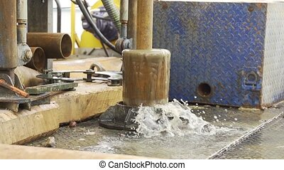 immersing drilling pipe into the borehole - Drilling On Rig...