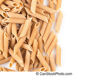 Wholegrain Penne Pasta - Wholemeal Pasta Penne as close-up...