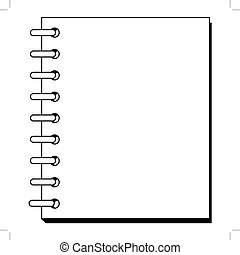 spiral copybook - outline illustration of spiral copybook