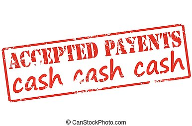 Accepted payment - Rubber stamp with text accepted payment...
