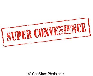 Super convenience - Rubber stamp with text super convenience...