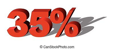 Illustration Vector Graphic Sale Percent 35 for the creative...