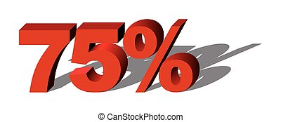 Illustration Vector Graphic Sale Percent 75 for the creative...