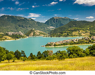 Lago del Turano is a lake in Province of Rieti, Lazio,...