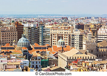 An aerial view on Mercado Central - European city urban...