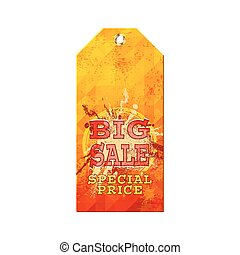 bid sale - color label for sale, vector illustration...