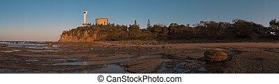 Point Cartwright Panorama with Lighthouse - Sunset panorama...