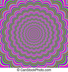 Colorful abstract hypnotic colorful tunnel (optical ilusion)