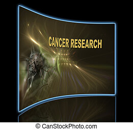 CANCER RESEARCH - word CANCER RESEARCH writing on optical...