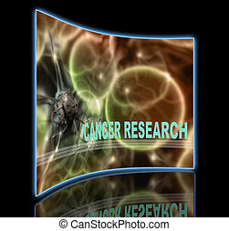 CANCER RESEARCH - word CANCER RESEARCH writing on cancer...
