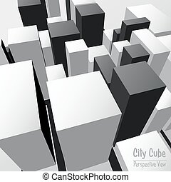City Cube Perspective View