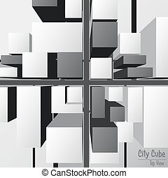 City Cube Top View