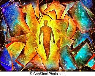 Figure in Doorway of light