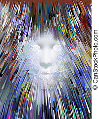 Mythical Face Abstract