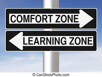 Comfort or Learning - Modified one way signs indicating...