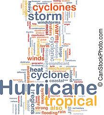 Hurrican, tempo, fundo, conceito