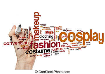 Cosplay word cloud concept - Cosplay word cloud