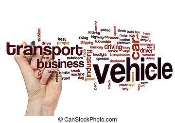 Vehicle word cloud concept - Vehicle word cloud