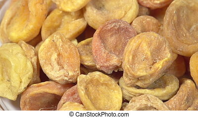 Dried Apricots - Loop rotation Front of the camera rotates...