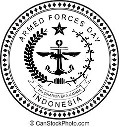 Indonesia Armed Forces Day - Indonesia, Armed Forces Day, a...