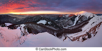 Small Fatra panorama at sunrise