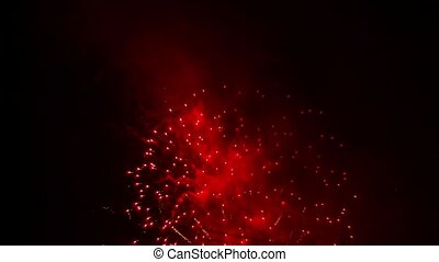 Fantastic Fireworks Show High Up In The Sky - SLOW MO:...