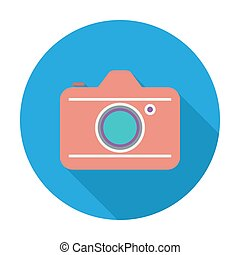 Camera. Flat vector icon for mobile and web applications....