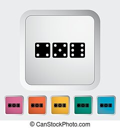 Craps icon - Craps Single flat icon on the button Vector...
