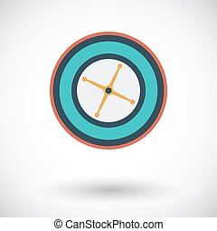 Roulette Flat vector icon for mobile and web applications...