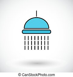Shower Flat icon on the white background for web and mobile...