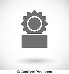 Canned. Single flat icon on white background. Vector...