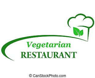 vegetarian background with chef hat