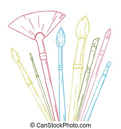 Some vector brushes - Beautiful vector image with some...