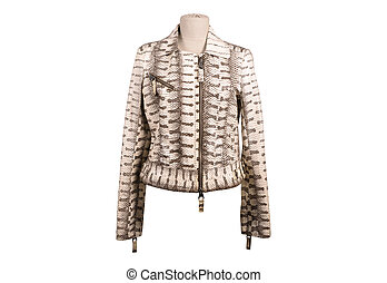 Isolated python leather jackets - Python leather jacket from...