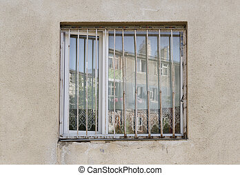 old window with wall