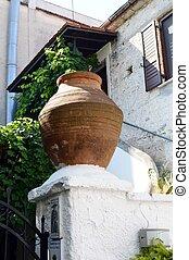 Big ancient pot