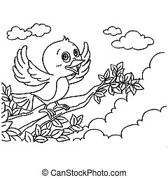 Bird Coloring Pages vector - image of Bird Coloring Pages...