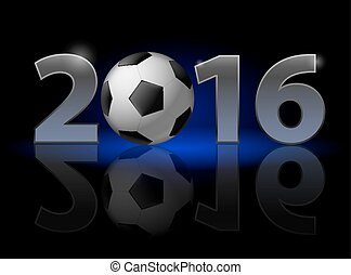 New Year Twenty-Sixteen - New Year 2016: metal numerals with...