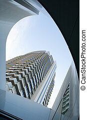 Modern building - The perspective view of urban modern...
