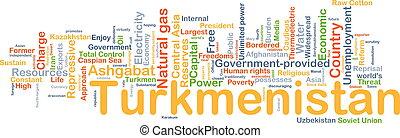 Turkmenistan background concept - Background concept...