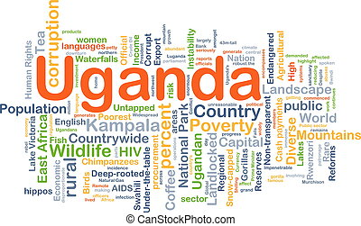 Uganda background concept - Background concept wordcloud...