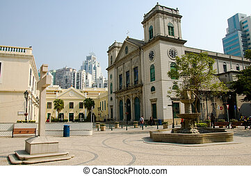 Church - A view of classical chruch architecture in Macau