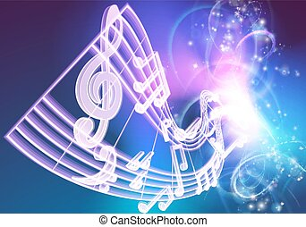 Music Notes Musical Background - A music background...