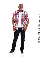 young african american man posing on white - cheerful young...