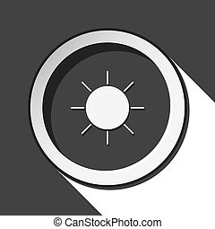 black icon with sunny and stylized